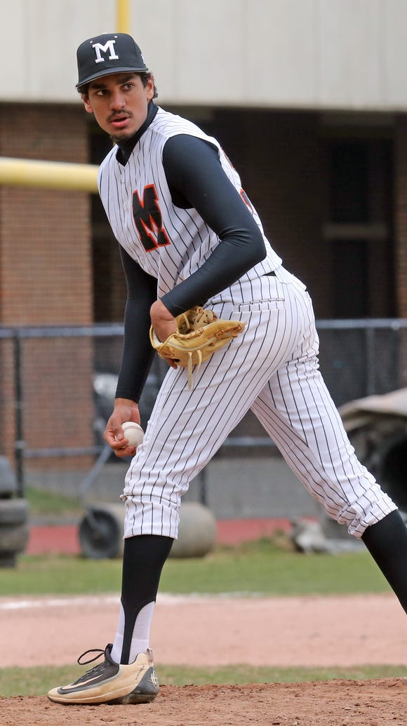 Mamaroneck's Sachin Nambiar (37) pitches Wednesday