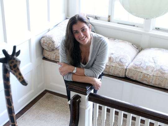 Stacey Baumer is photographed inside her Scarsdale house. Her home has been rented for films and advertisements.