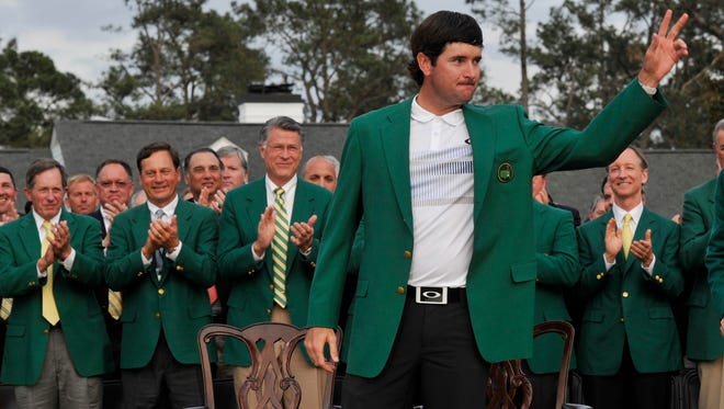 Bubba Watson returns to the Pensacola area Thursday after winning the the Masters at Augusta National Golf Club earlier this month.