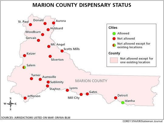 Here's how the cities in Marion County voted on whether to impose moratoriums on medical marijuana dispensaries.
