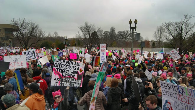 Protest signs from the Women's March on Washington, as well as the Jan. 21 march in Knoxville, will be shown in an A1LabArts pop-up weekend show.