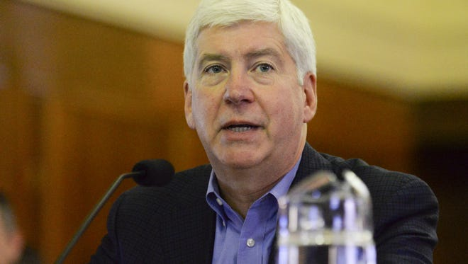 Gov. Rick Snyder presented Wednesday his fiscal year 2018 and 2019 budget recommendations. The document included an error pertaining to Lansing city income tax collection that was later corrected.