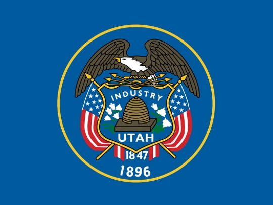 Utah State Flag. (Photo By Encyclopaedia Britannica/UIG Via Getty Images)