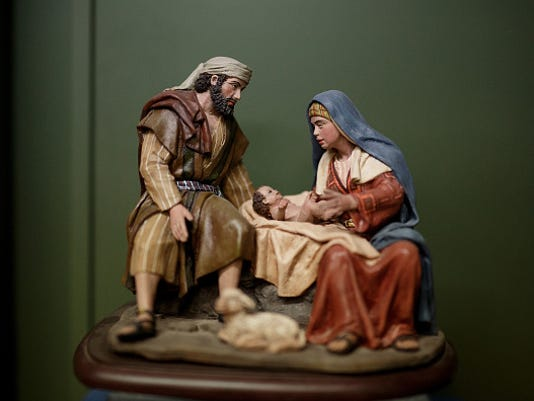 Hand-Made Clay Figures For Christmas Nativity Scene