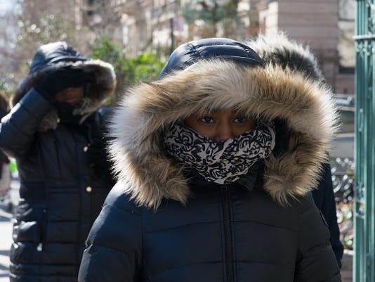 Artic Chill Brings Frigid Temperatures Over New York City