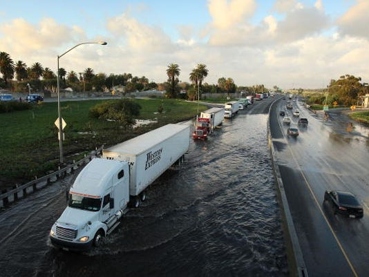 Severe Rain Storms Cause Flooding In Southern Los Angeles Area