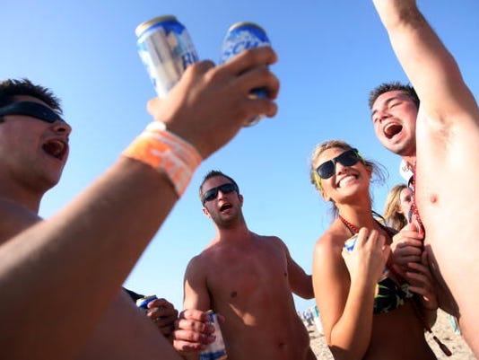 Spring Break Revelers Flock To Texas's South Padre Island