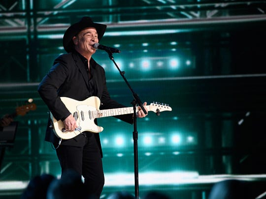 THE 50th ANNUAL CMA AWARDS - The 50th Annual CMA Awards, hosted by Brad Paisley and Carrie Underwood, broadcasts live from the Bridgestone Arena in Nashville, Wednesday, November 2 (8:00-11:00 p.m. EDT), on the ABC Television Network. (Image Group LA/ABC via Getty Images) CLINT BLACK