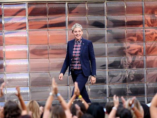 """NEW YORK, NY - SEPTEMBER 08:  Ellen DeGeneres attends """"The Ellen DeGeneres Show"""" Season 13 Bi-Coastal Premiere at Rockefeller Center on September 8, 2015 in New York City.  (Photo by Laura Cavanaugh/FilmMagic)"""