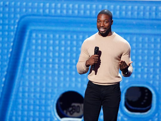 "Preacher Lawson performs stand-up on ""America's Got Talent."""