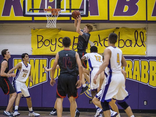 High School Basketball: Pinnacle HS Nico Mannion (33)