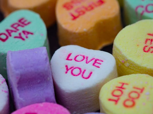 Valentines Day Candy With Romantic Messages
