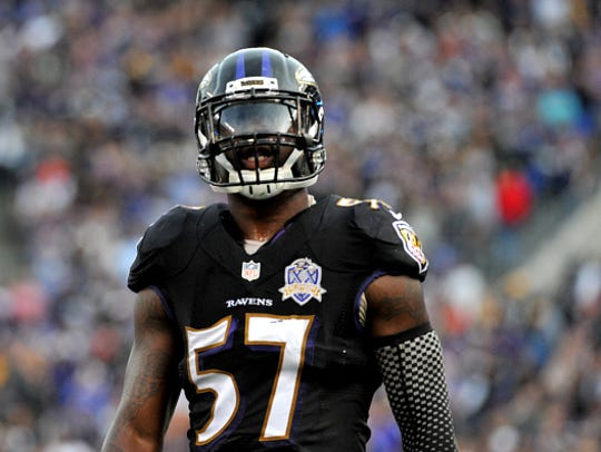 Linebacker C.J. Mosley #57 of the Baltimore Ravens