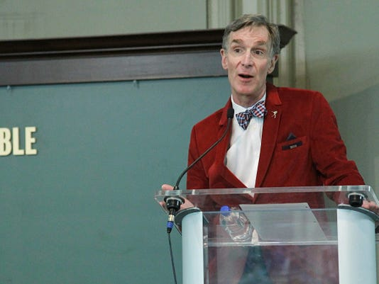 """Bill Nye Signs Copies Of His Book """"Undeniable: Evolution And The Science Of Creation"""""""