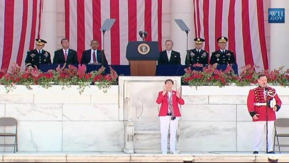 President Obama speaks at Arlington National Cemetery
