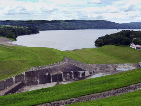 Whitney Point Reservoir was created by damming the