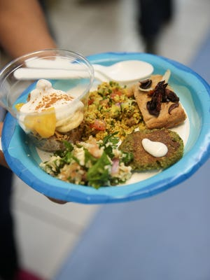 A sample of mediterranean dishes are featured during the Healthy Cooking Class held at SDA Church on June 28.