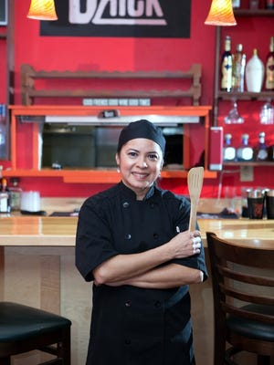 Maria Vosanjos, who manages the restaurant along with her husband Victor Mendoza.