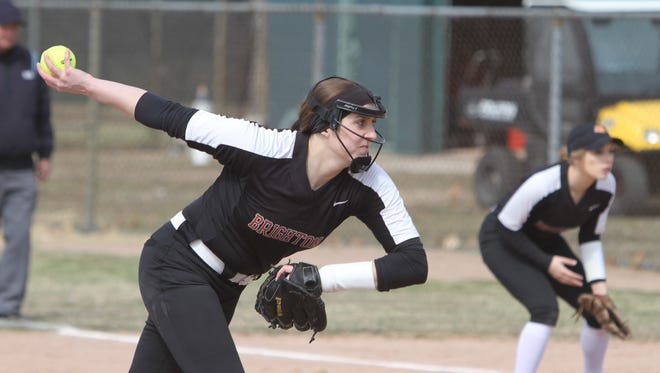 Pitcher Chloe Haskins is the only senior starter for Brighton.