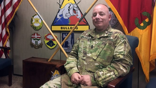 Command Sgt. Maj. Michael Williamson relinquished his position as senior enlisted leader with 3rd Brigade and will stay in El Paso when he retires.