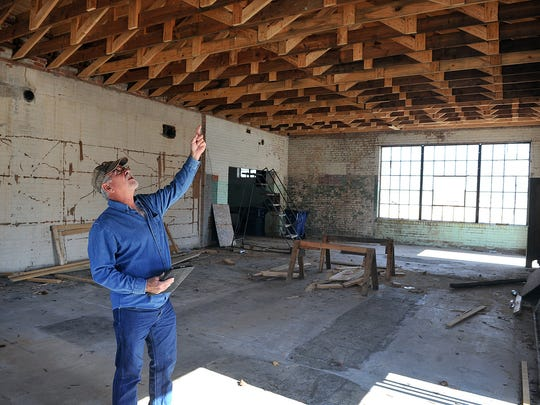Bob Ferguson talks about the renovation progress being made on the Justin Boot Company building in downtown Nocona. Plans call for a farmers market/community center with multiple indoor and outdoor uses. The structure dates back to the early 1900s.