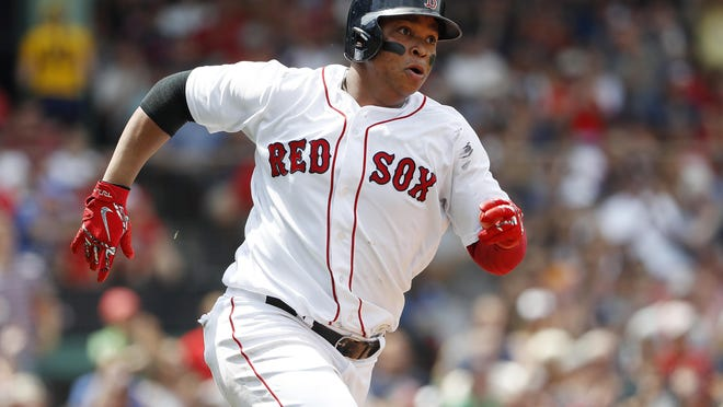 Rafael Devers is expected to rejoin his teammates Wednesday at Fenway Park after spending Tuesday at Boston College.