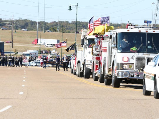 The 2nd Annual Veteran's Parade was held Saturday near the Ballpark Of Jackson with emergency responders, bands, dancing troupes, ROTC, Scouts and several veterans groups.