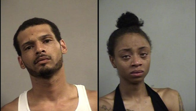 Detrick Taylor, left, and Jazzline Jewell, right, were arrested after they were involved in a crash near a strip club.