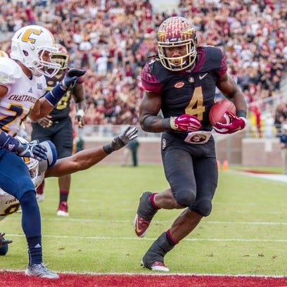Florida State running back Dalvin Cook runs in for