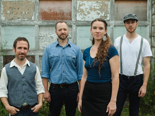 Driftwood is, from left, Joe Kollar, Dan Forsyth, Claire Byrne and Joey Arcuri. The band will perform on Colorscape's mainstage this year.