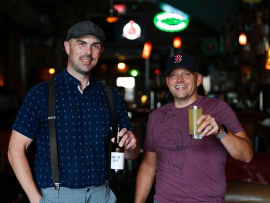 Saint Fox Cider company founders Ian Carleton (left)