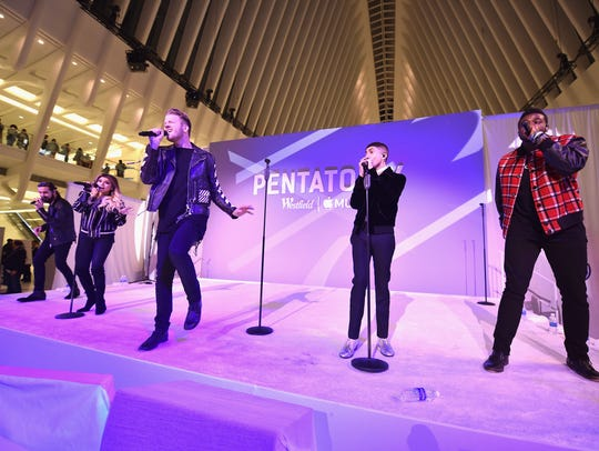 Pentatonix takes the stage Tuesday, Aug. 14 at BB&T Pavilion, Camden Waterfront.