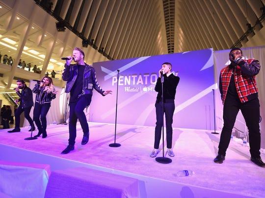 Pentatonix will sing at Ak-Chin Pavilion on Saturday,