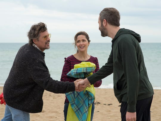 Ethan Hawke (from left), Rose Byrne and Chris O'Dowd