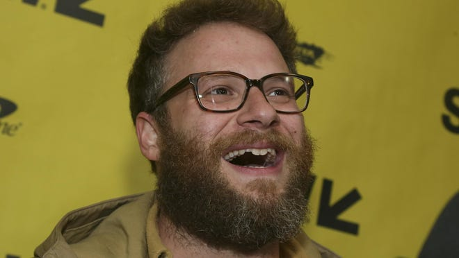 "Seth Rogen arrives for ""The Disaster Artist"" at the Paramount Theatre during the 2017 South by Southwest Film Festival in Austin, Texas. Rogen plays dual roles in the recently-released ""An American Pickle."""