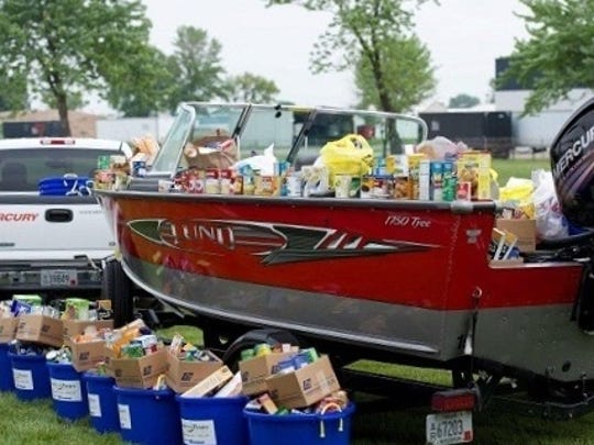 Approximately 3,000 food items were donated by Fond du Lac's Mercury Marine employees to the Fondy Food Pantry during the fourth annual Fill the Boat to Cast Out Hunger food drive. In addition to the food donations, $7,500 in monetary donations were collected. The Fondy Food Pantry has been providing essential food assistance to thousands of individuals and families in need in the Fond du Lac area since 1973.