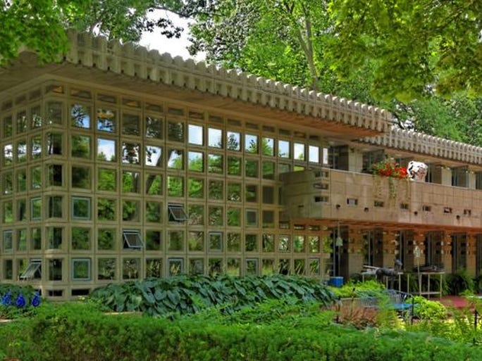 The Dorothy Turkel House, Detroit, MI that was designed by Frank Lloyd Wright.