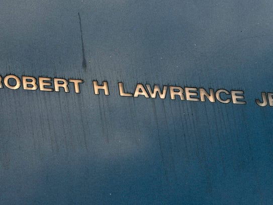 The name of Robert H. Lawrence, Jr is etched into the