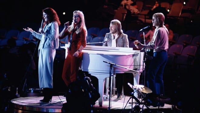 Abba is seen during a 1979 performance at the United Nations General Assembly.