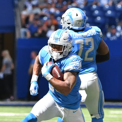 Lions running back Dwayne Washington should see a healthy