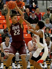 Bowie's Gary Mosley passes in the game against Burkburnett