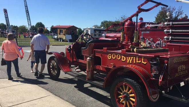 Old fire apparatus from Goodwill Fire Company was on display at the Old Fire Farts Muster, Cousler Park, Manchester Township.