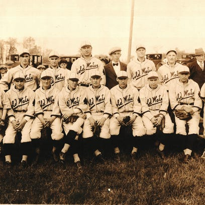 A photo of the Cold Water baseball team in 1929. The