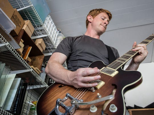 Andrew Wood, a teacher at Muncie Central high school, plays with his band The No Good Riders. The 2000s alternative rock band has been set for about three to four years, typically playing at places such as Be Here Now about four to five times annually.