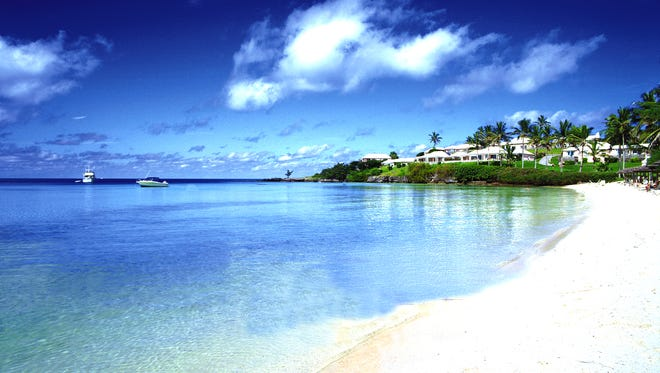 The view of Long Bay at Cambridge Beaches Resort and Spa in Bermuda.
