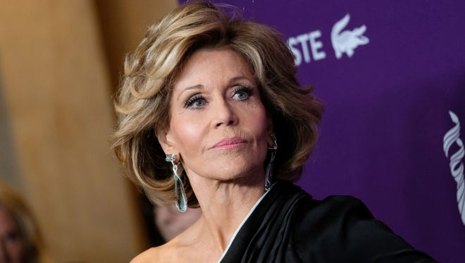 Jane Fonda at the Costume Designers Guild awards in Beverly Hills, on Feb.21, 2017.
