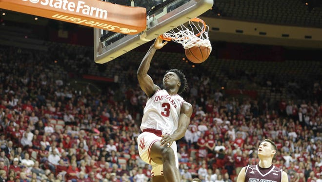 OG Anunoby scored 25 points in IU's win over Bellarmine on Saturday.