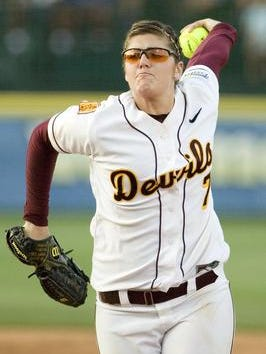 Softball pitcher Katie Burkhart, school leader in wins and strikeouts, is among seven new inductees into the ASU Athletic Hall of Fame.