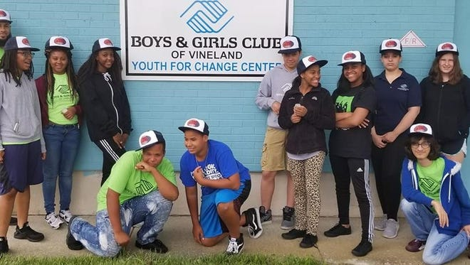 """Teens at the Boys & Girls Club of Vineland learned to """"Block the Blaze"""" with hats and sunscreen."""