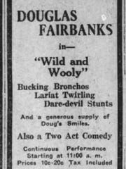 """Broncho, spelled with an """"H,"""" was common at the time when Lafayette Jeff teams first picked up the nickname. In 1921, Douglas Fairbanks was starring in """"Wild and Wooly,"""" a movie featuring """"Bucking Bronchos"""" and playing at the Lyric in downtown Lafayette."""